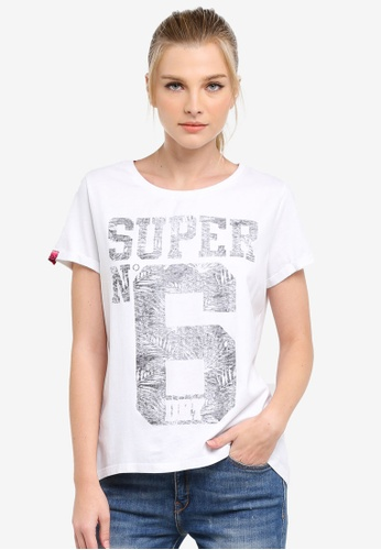Superdry white NO 6 ENTRY TEE SU137AA0S4E5MY_1