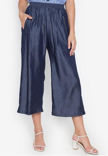 Chictees blue Jasmine Square Pants F56FDAA81658C1GS_1
