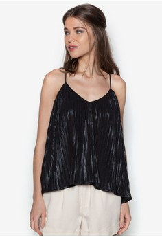 Festive Metallic Pleated Cami