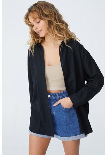 Cotton On black Daydreamer Oversized Shirt 5B645AA72FEBA7GS_1