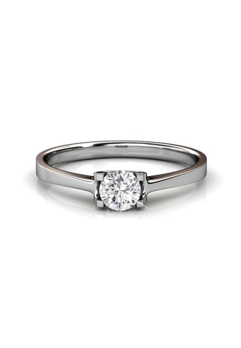 Her Jewellery silver Swarovski® Crystals - Caring Ring  (18K White Gold Plated) Her Jewellery HE581AC0RC0MMY_1