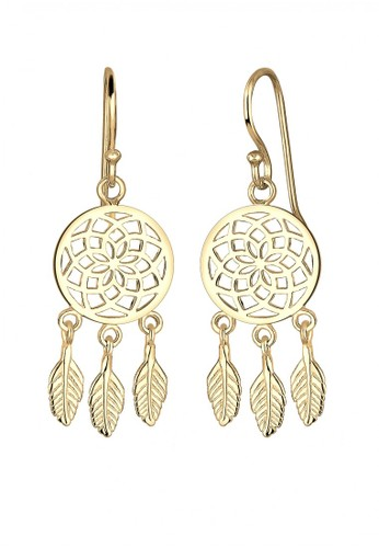 Elli Germany gold 925 Sterling Silver Anting Boho Style Lapis Emas 0C73BAC07A4C09GS_1