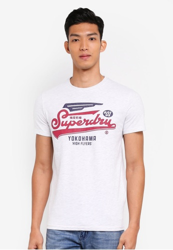 Superdry white High Flyers Duo Tee F35FAAA43FEFDBGS_1