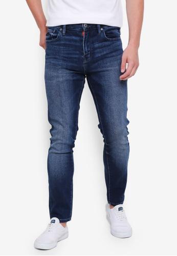 Superdry 藍色 修身牛仔褲 67F55AAE88996AGS_1