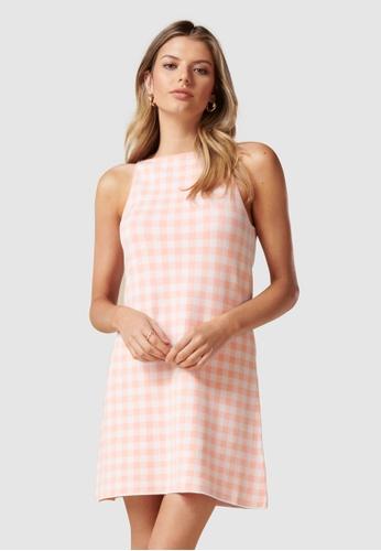 Forever New pink Elena A Line Mini Knit Dress D2F63AAF2C0934GS_1