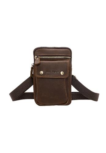Jack Studio Jack Studio Genuine Leather Phone Belt Pouch Waist Bag Crossbody Bag 2D9A5AC0B820D1GS_1