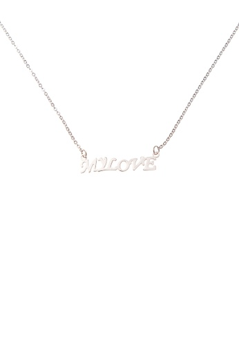 jumbo plating initial necklace script com in forevermom gold product