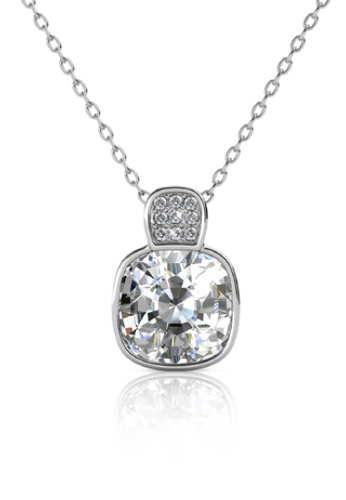 Her Jewellery silver Leontine Pendant -  Made with premium grade crystals from Austria 033B8ACAFD9620GS_1