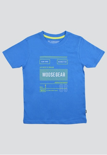 Moose Gear blue T-Shirt Soft and Thin Cotton For Boys 17F6CKAD2EC3F0GS_1