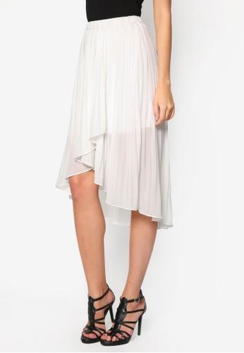 Petite 不對稱褶飾短裙esprit hk, 服飾, 裙子