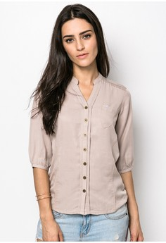 Mandarin Quarter Sleeves Shirt