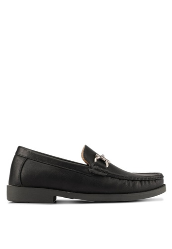 Albertini black Buckle Loafers AL779SH0SAWHMY_1