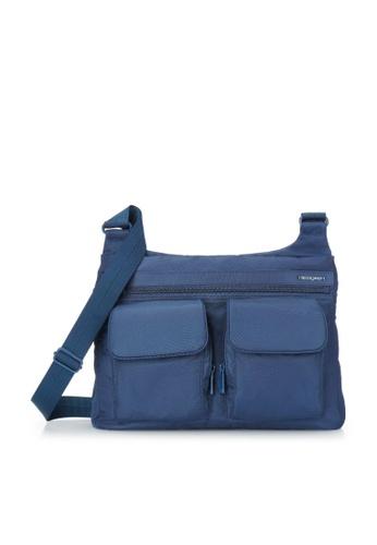Hedgren blue Hedgren Women Prarie Shoulder Bag Outside Pock Dress Blue - 7.2L 3AB61ACEC1A247GS_1