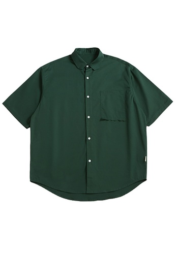 Twenty Eight Shoes Loose Cropped Pocket Short Shirt 2263S21 447E6AA3A22473GS_1