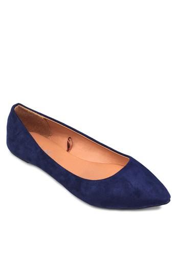 麂皮尖頭平底鞋, 女鞋,esprit retail 芭蕾平底鞋