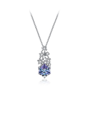 Glamorousky multi 925 Sterling Silver Snowflake Pendant with Colored Austrian Element Crystals and Necklace 45E72ACCC2D530GS_1