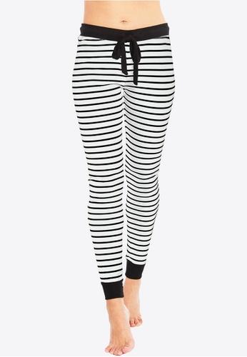 Deshabille black and white Betty PJ Legging White / Black 706AFAA8E3DFF8GS_1