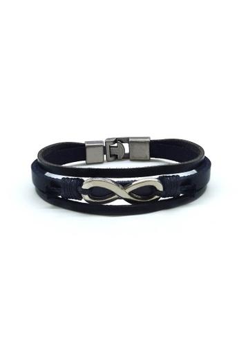 Her Jewellery black Ross Bracelet 7BD18AC04805E1GS_1