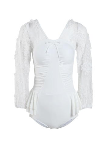 Its Me white Elegant Lace One-Piece Swimsuit EB1F3US2BD5F0BGS_1