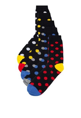 Brave Soul multi Men's Dots Socks 2EF69AAEDB4985GS_1