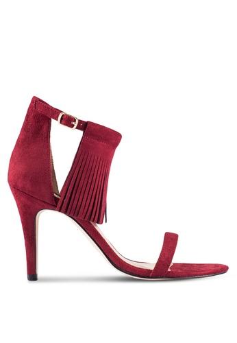 ZALORA 紅色 Tassel 流蘇 高跟鞋 E69ADZZ18EB9ACGS_1
