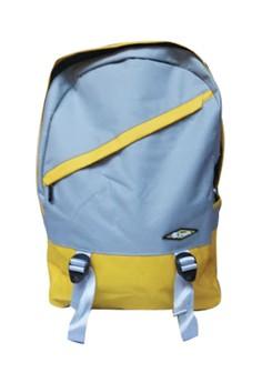 Sroute Dual Color School Bag BackPack BP-D1 (Yellow/Grey)