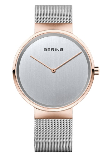 Bering silver and gold Classic 14539-060 Silver 39 mm Men's Watch 60E30ACC7984B8GS_1