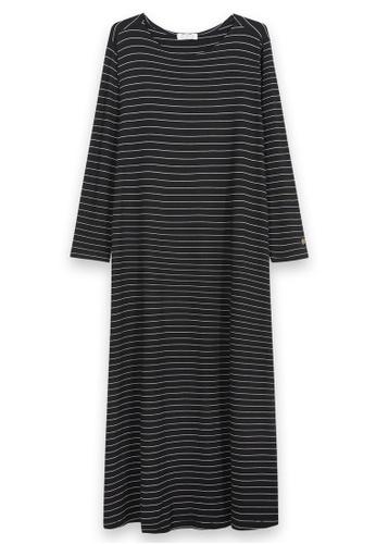 MS. READ black Long Sleeve Maxi Dress, - 6 Sizes (Black) BDCFDAA0F5276BGS_1