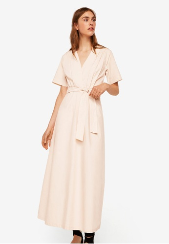Mango beige Belt Long Dress 0FC8BAA4CC5906GS_1