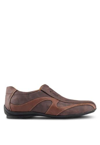 Louis Cuppers brown Casual Slip Ons LO977SH0RKBYMY_1