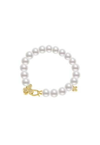 Pearly Lustre gold Pearly Lustre Elegant Freshwater Pearl Bracelet WB00030 547F9AC5CA7521GS_1
