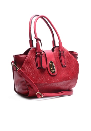 House of Bai red Ella Europe Top Handle Bag HO716AC73CQOPH_1
