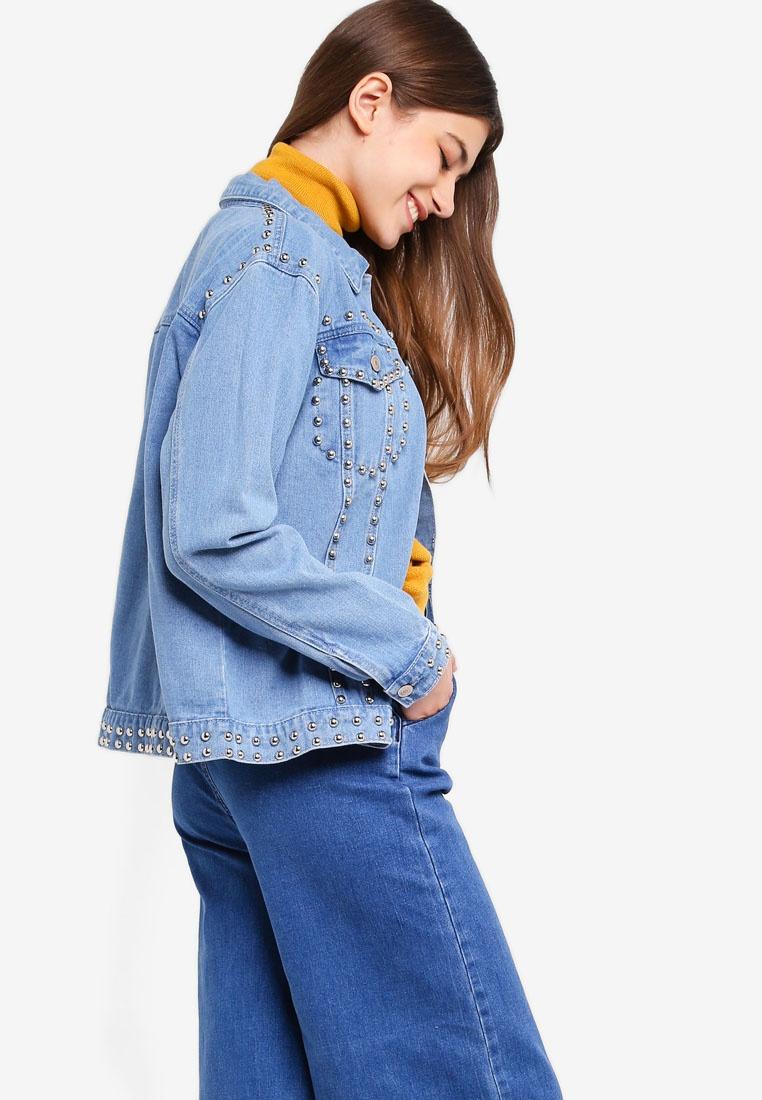 Jacket Something Light Studded Blue Borrowed qRREOxAr