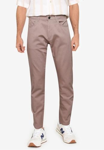 LC Waikiki beige Slim Fit Twill Trousers C29D4AA01A4268GS_1