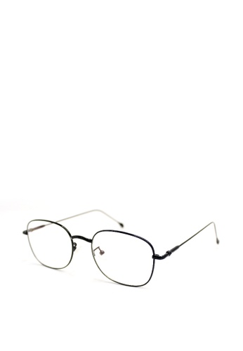 Peculiar and Odd black Square Eyeglasses 9006 Anti-radiation Replaceable Lenses 55B04GLD1D5453GS_1