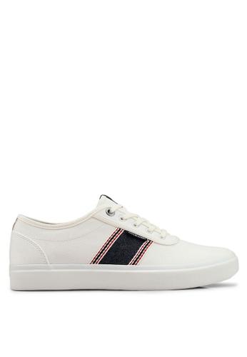Jack & Jones white Austin White Stripe Denim Sneakers D0C8ESH15AB93EGS_1