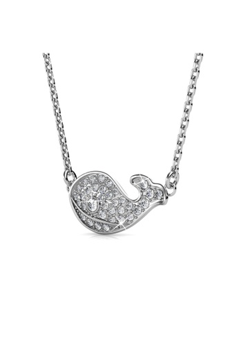 Her Jewellery silver Her Jewellery Whale Pendant with Necklace Chain with 18K Gold Plated 8BC9DAC036E1FBGS_1