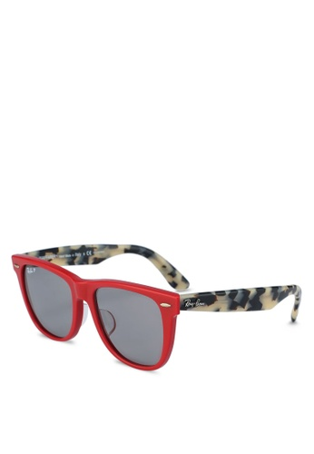 d757f69ebdd Ray-Ban red Wayfarer RB2140F Sunglasses 96CA8GLAE11487GS 1