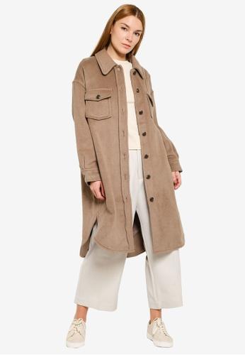LOWRYS FARM brown Long Coat 06D1CAA9904C03GS_1
