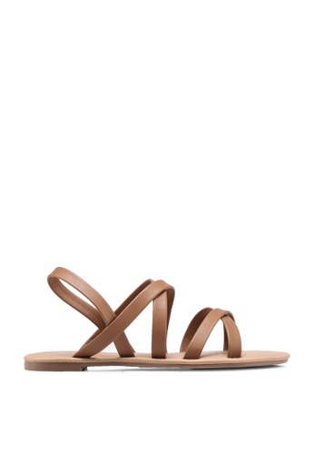 Rubi brown Everyday Strappy Sling Back 403F3SH09A019CGS_1