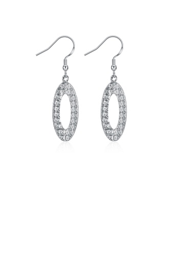 Glamorousky silver Simple Oval Earrings C1B1EAC4BC76FEGS_1