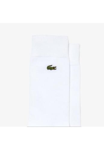 Lacoste white Men's Embroidered Crocodile Cotton Blend Socks FAC12AADB6F11DGS_1