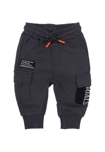 FOX Kids & Baby grey Grey Drawstring Jogger Pants FB8ECKA5B225F3GS_1