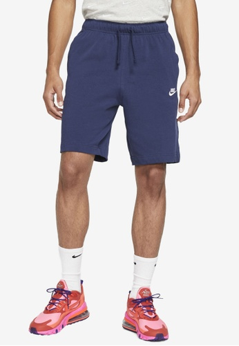 Nike navy Sportswear Club Fleece Shorts AC9DDAA2F8A1E2GS_1