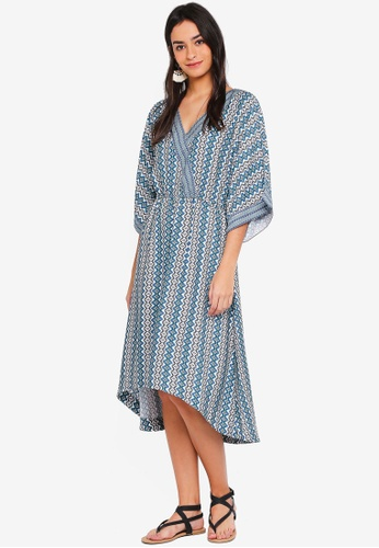 ONLY multi Daisy 3/4 Midi Dress 5D171AA63E666CGS_1