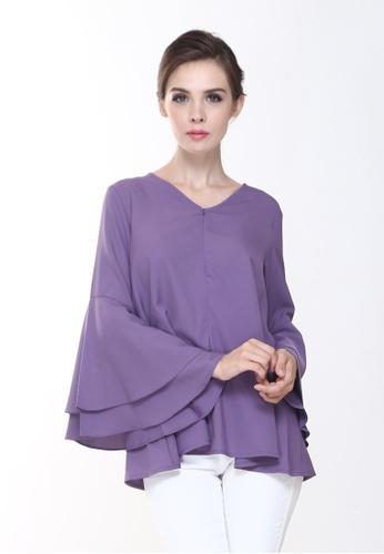 ccb37299cdb44d Rina Nichie Basic purple Rena Top in Dusty Purple RI220AA0RW6HMY 1