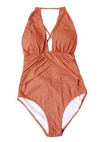 ZITIQUE brown Holiday Swimsuit Beach Dress 5804EUS5561FACGS_1
