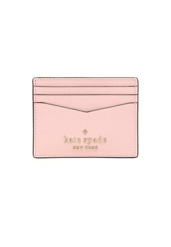 Kate Spade pink Kate Spade Staci Small Slim Card Holder Light Crepe 69C2EAC9C11E6CGS_1
