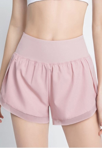 Twenty Eight Shoes pink VANSA  Double-layer Fake Two-piece Sports Shorts VPW-St3015 F7489AA3591408GS_1