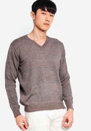 e1443eb79514f3 Buy ZALORA BASICS Basic V Neck Knitted Jumper Online | ZALORA Malaysia